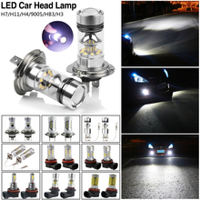 TSLEEN 2pcs CREE Shockproof and Long Life-span 600-1000LM LED Bulbs Car Kit H3 H4 H7 H11 HB3 White Headlight Replace Xenon Lamp(China (Mainland))