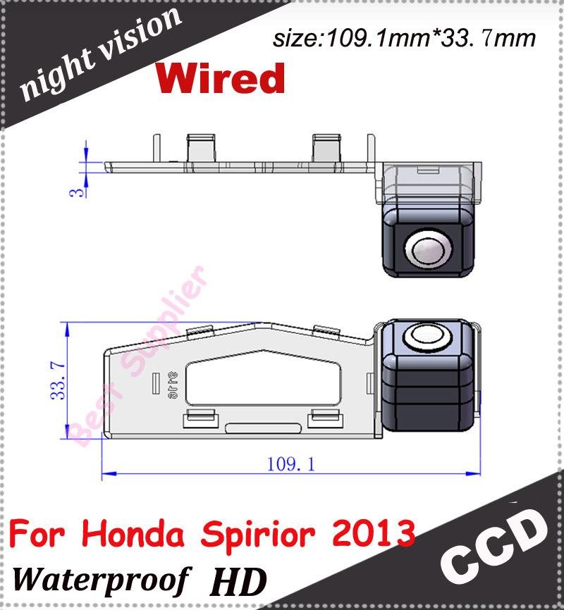 night vision waterproof car backup rear camera for Honda Spirior 2013 CCD car back up parking camera(China (Mainland))