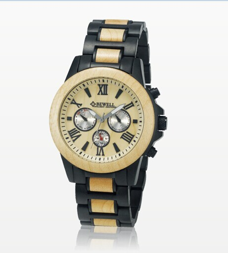 Nature Wooden Watches for men Eco-friendly handcrafted Maple wood Wristwatch Husband boyfriend Gift Box BEWELL Wood Watch