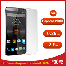 100pcs/lot Tempered Glass Screen Protector For Elephone P8000 Anti Shatter Screen Protective Film