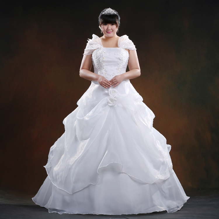 In the spring of 2015 the new code Wedding Dress XXL MM fat thin shoulder bag Nail Drill slim size wedding(China (Mainland))