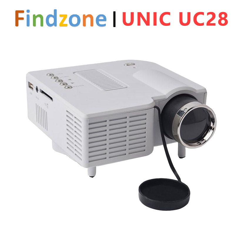 Фотография Original UNIC UC28 Portable LED Projector Cinema Theater PC&Laptop VGA/USB/SD/AV/HDMI Input White Black Mini Pocket Projector