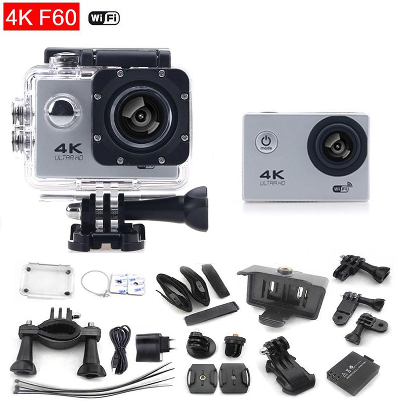 "Original Action Camera F60 Sport camera Ultra 4K HD 16Mp 170 degrees Wide Angle 2.0"" LCD go waterproof pro 30m mini Cam(China (Mainland))"