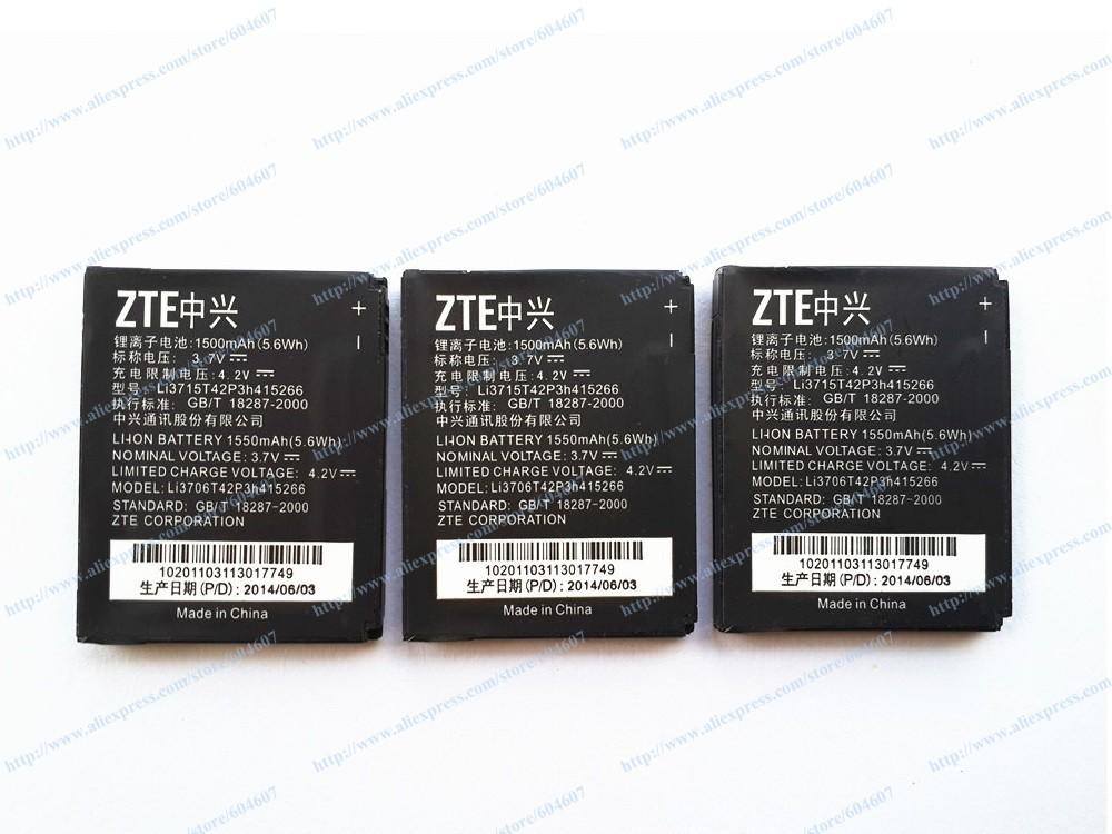 Lot 100pcs New Li3715T42P3h415266 Battery For ZTE N760 Roamer / Fury N850 Sprint Phone(China (Mainland))