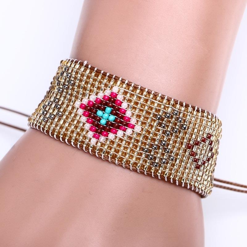 Ручной дружба 13 рядов браслет хиппи из бисера дружба браслет веревку строка браслеты дружбы для мужчин
