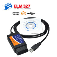 OBDII scanner elm327 USB car diagnostic tool Auto code reader elm 327 interface interface V1.5 Version Free Shipping