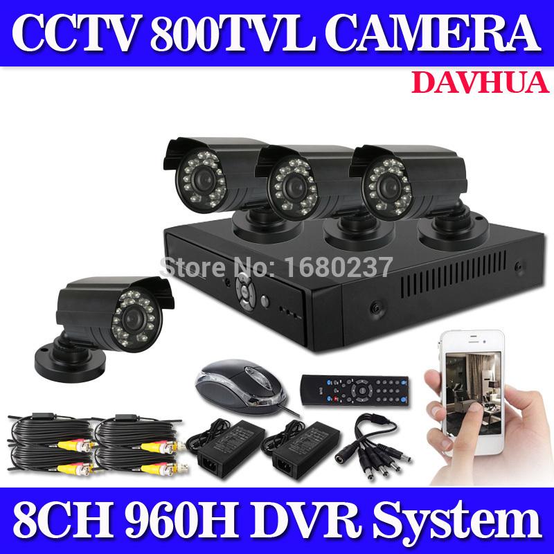 Гаджет  8CH 960H DVR Outdoor 800TVL Night Vision CCTV Home Security Camera System no hard drive None Безопасность и защита