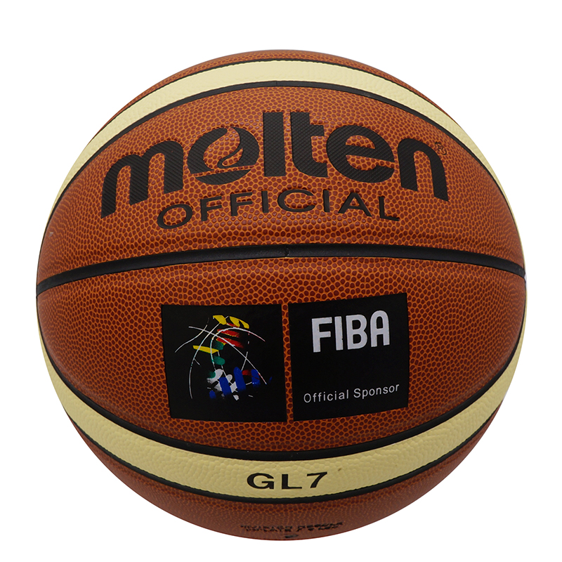 High Quality Molten GL7 Indoor Outdoor Leather Basketball Official Size 7 Basketball Ball PU Match Training Equipment IB386-FB(China (Mainland))
