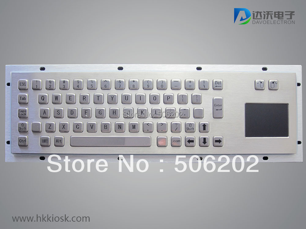 D-8607 Customizable compact kiosk industrial keyboard with touchpad(China (Mainland))