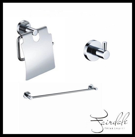 Brilliant Piece Chrome Finish Bathroom Accessory Set 001  Faucets Online Shop