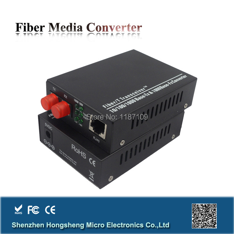 10/100/1000MBase TX to 1000M FX Fiber Optic Media Converter rj45 with SC Connector(China (Mainland))