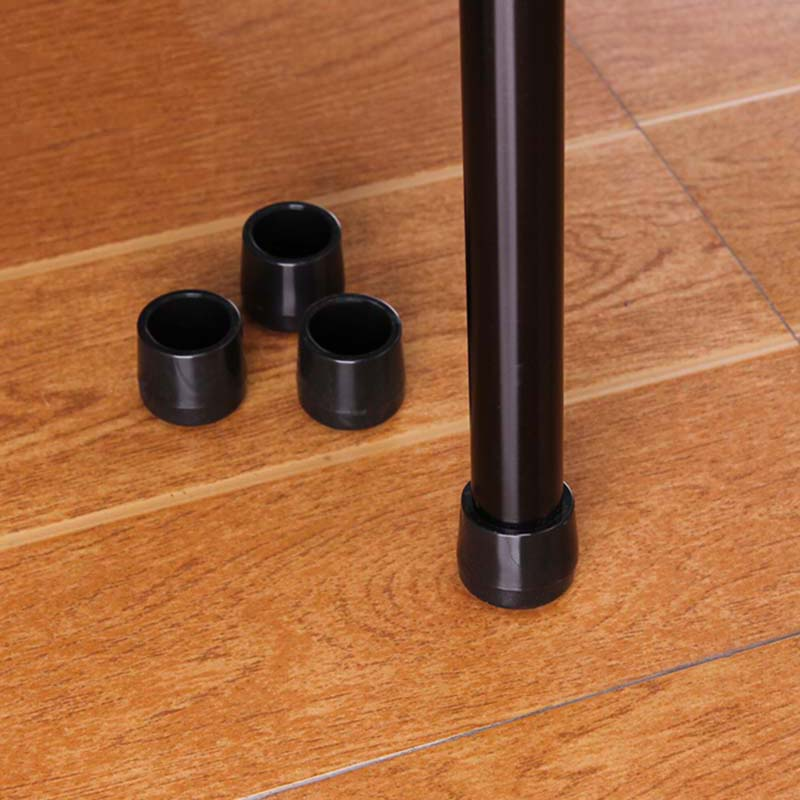 New Practical 4 Pcs 28 mm Furniture Table Desk Chair Leg Feet Protector Floor Pad Tip Cover Black PVC Plastic(China (Mainland))