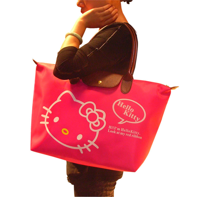 Luxury Hello Kitty Bags Classic Tote Bag Women Handbags Handbag Black