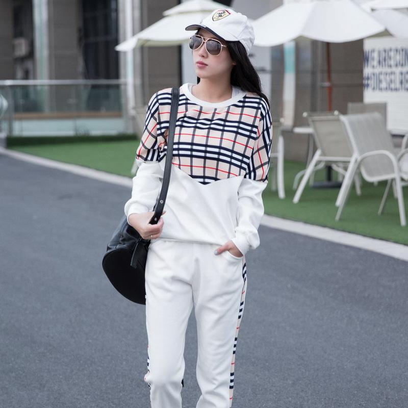 Europe station 2015 Hitz fashion plaid suits sports suit female Korean student influx piece sweaterОдежда и ак�е��уары<br><br><br>Aliexpress