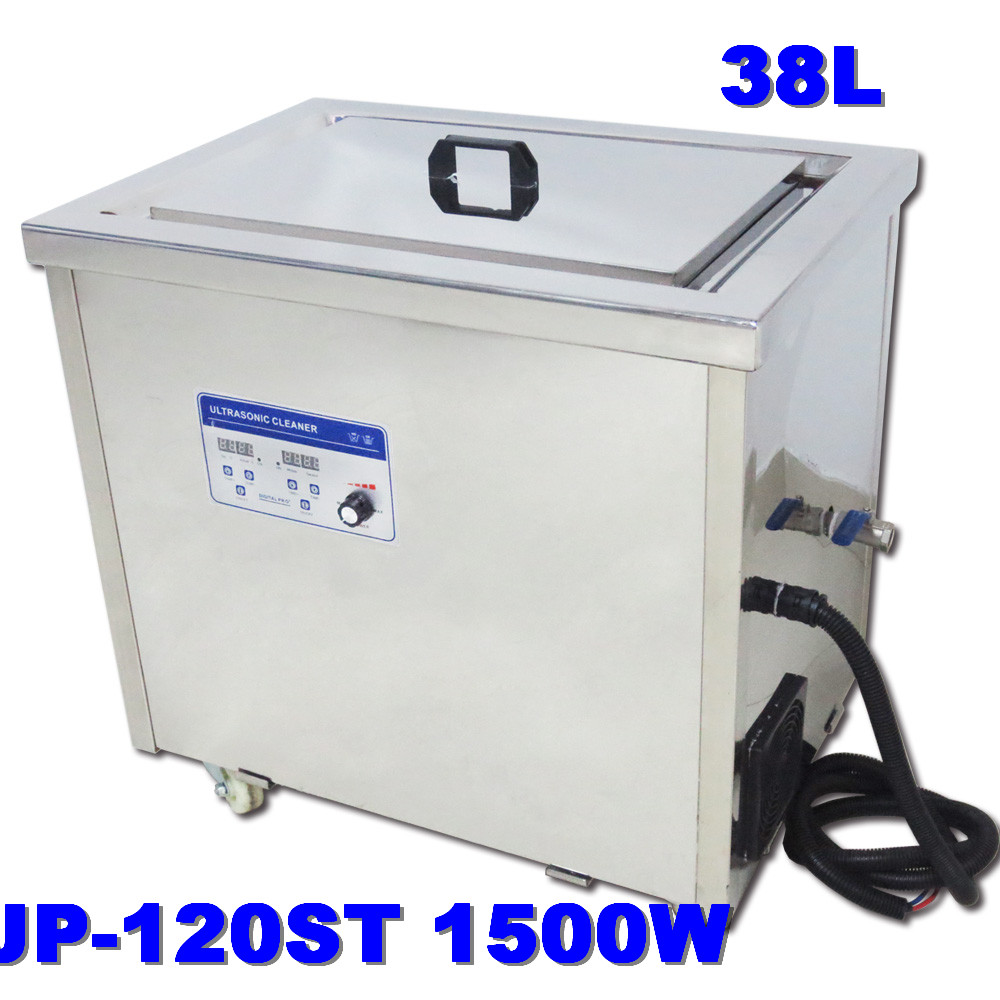 Car industry Digital heated control panel auto repairing tools ultrasonic cleaning machine 38L JP-120ST large ultrasonic cleaner(China (Mainland))