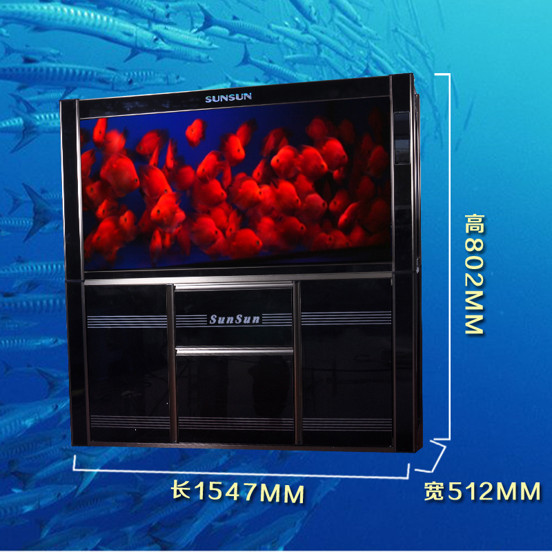 The fourth generation of dense HLGX bottom filter Long ecological aquarium tank 1500F upgraded version of the new 2014 sale(China (Mainland))