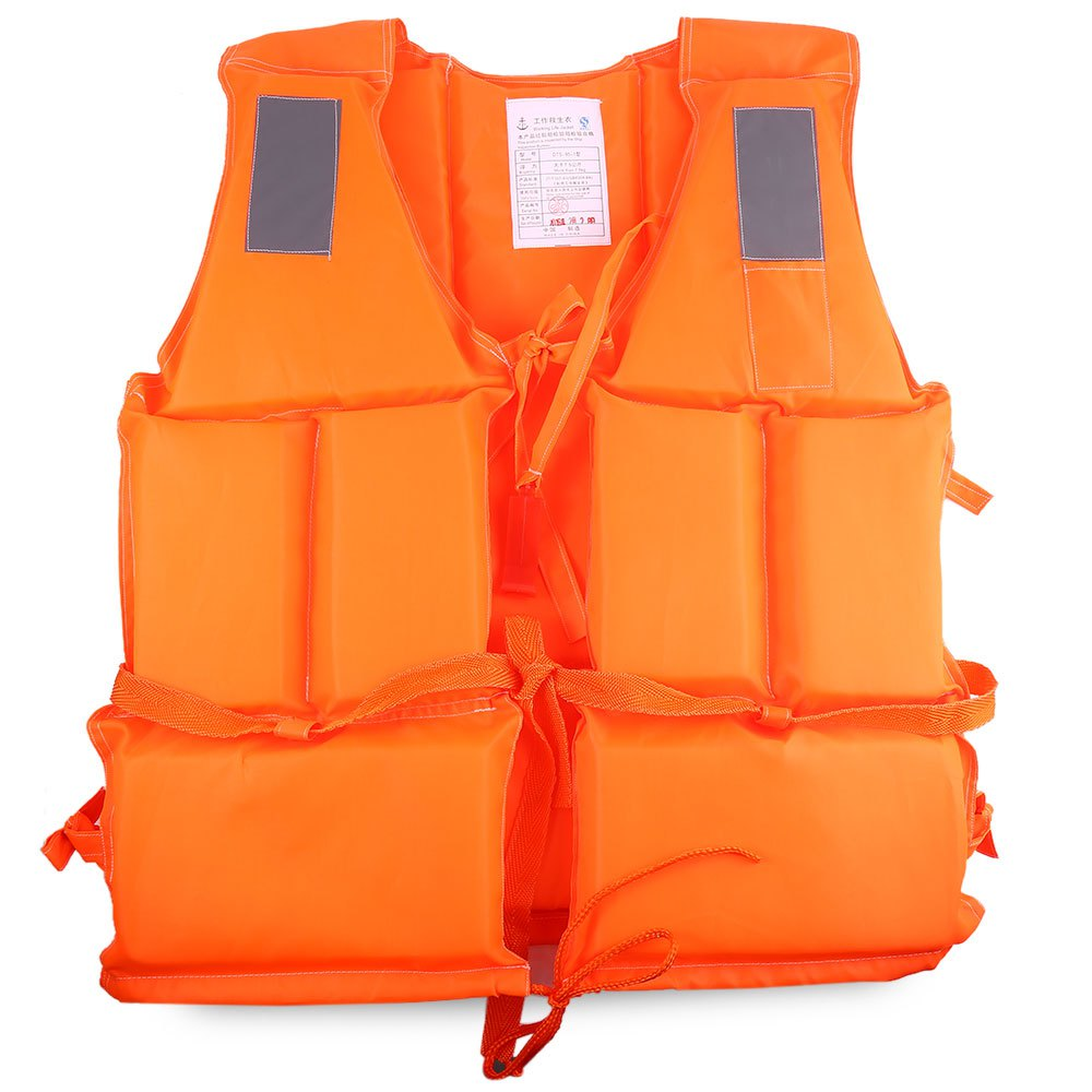 Life Vest Orange Professional Adult Life Jacket with Whistle for Boat Surfing with Reflective Strips Inflatable Saving Vest(China (Mainland))