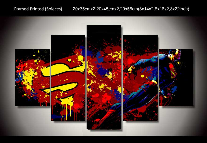 superman cartoon poster 5 pcs free shipping worldwide