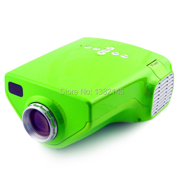 green 1080P projector with hdmi TF Portable Multimedia LED mini projetor(China (Mainland))