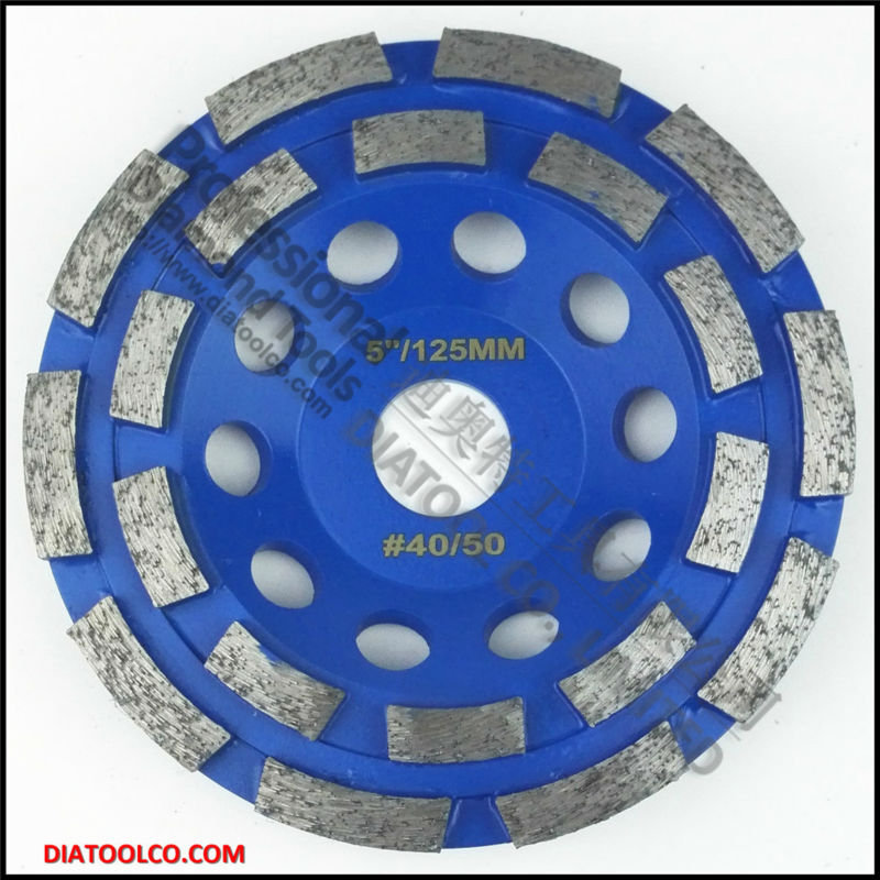 125mm diamond double row cup wheel for granite &amp; hard material, diameter 4 grinding wheel, bore 22.23mm<br><br>Aliexpress