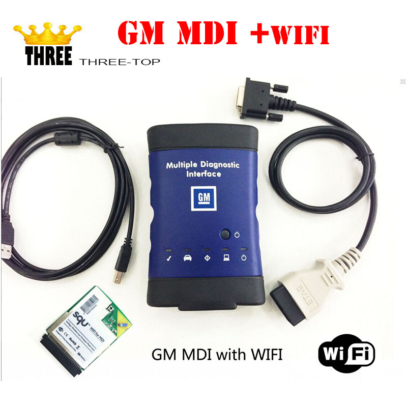 Latest product GM MDI +wifi Multiple Diagnostic Interface gm mdi Diagnostic Tool for cars/trucks with free DHL Shipping(China (Mainland))