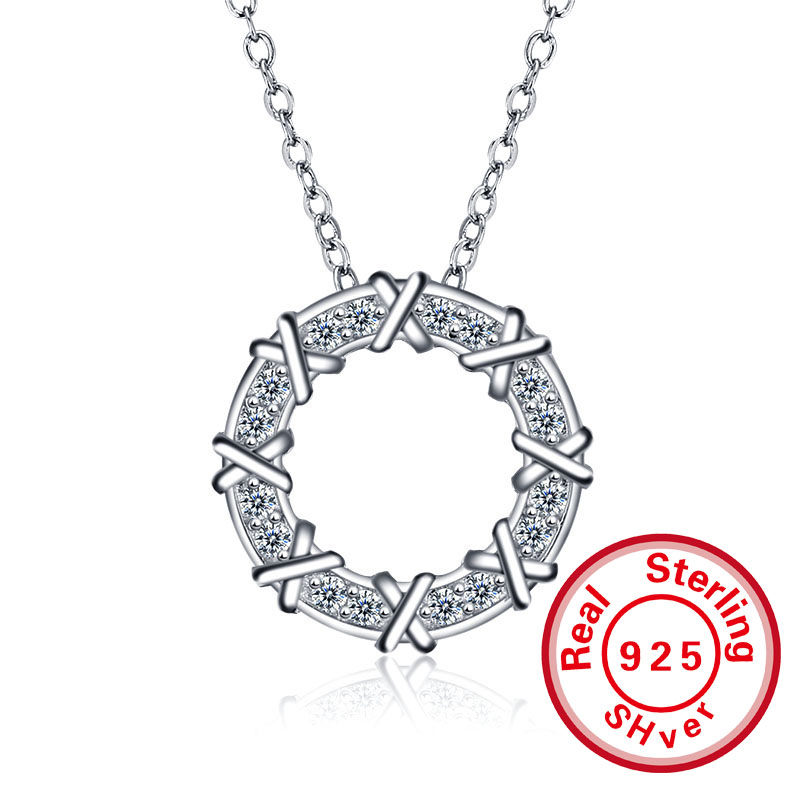 Jewelry Pendant 925 Sterling Silver X alphanumeric set chain chain wholesale manufacturers selling female clavicle(China (Mainland))