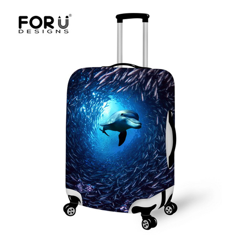 Stretch Dolphin Travel Luggage Suitcase Protective Cover to 18 20 22 24 26 28 30inch Cases With 6 Colors Elastic Luggage Cover<br><br>Aliexpress
