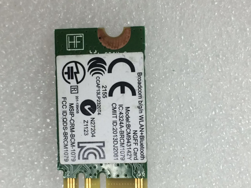 BroadCom BCM43142 BCM943142YH  SPS:753078-005 150Mbps 2.4Ghz NGFF WLAN  Bluetooth4.0  Card for HP Stream 14 612 Split 13 X2 <br><br>Aliexpress