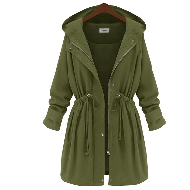 desigual long trench coat female hooded manteau femme 2015. Black Bedroom Furniture Sets. Home Design Ideas