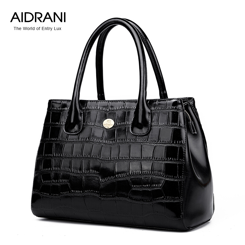 Aidrani Brand Women Handbags Top Quality Genuine Leather Bag Fashion Women Totes Cowhide Plaid Women Shoulder Messenger bags<br><br>Aliexpress