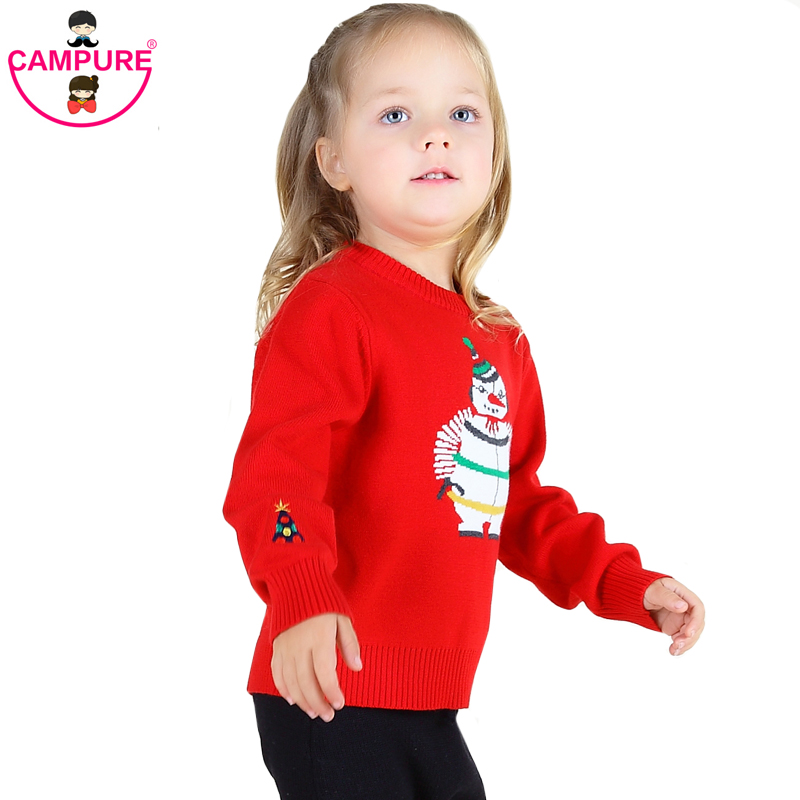 Campure 1-5Yrs Baby Boys Girls Snowman Sweater Boys Girls Clothes Red Sweaters Bobo Style Casual England Kit Children Clothing(China (Mainland))