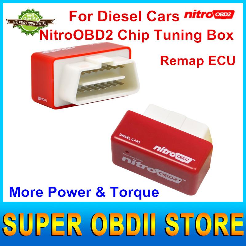 2016 New Arrival NitroOBD2 Diesel Car Chip Tuning Box Performance Nitroobd2 Nitro OBD2 Plug & Drive OBD2 Chip Tuning Device(China (Mainland))