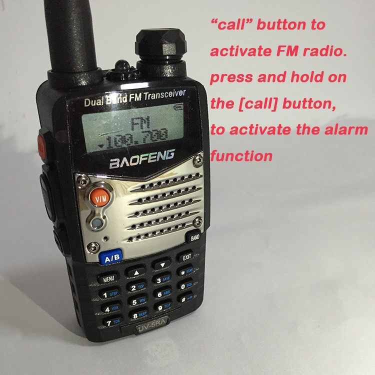 New Waterproof Pofung Baofeng UV-5RA For Police Walkie Talkies Scanner Radio Vhf Uhf Dual Band Cb Ham Radio Transceiver 136-174 (24)