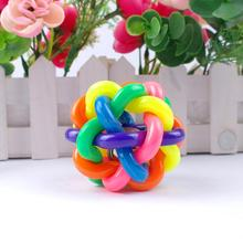 Colorful Pet Dog Cat Bell Toy for Small Medium Large Dog Pet Products Round Toys