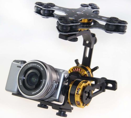 DYS BLG3SN 3-Axis Brushless Gimbal Sony NEX Canon FPV Camera Mount w/AlexMos BGC<br><br>Aliexpress
