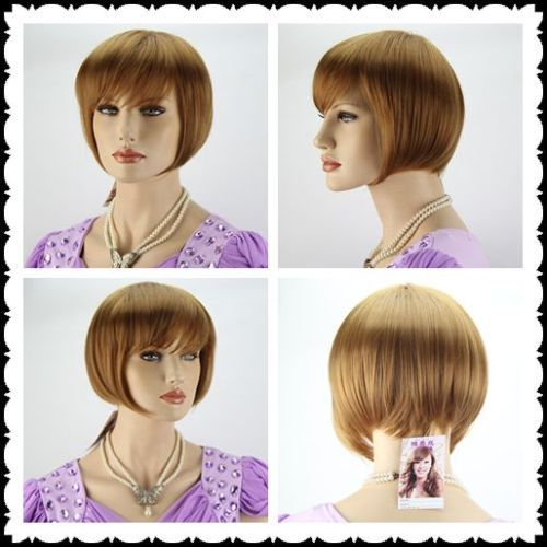 dd002046 light brown short straight cosplay full wig +gift<br><br>Aliexpress