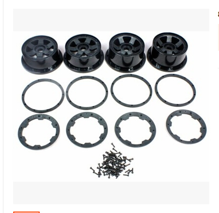 ROVAN WHEEL KIT WITH DEADLOCK RING AND SCREWS FOR HPI BAJA 5T King Motor TRUCK 85098(China (Mainland))