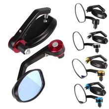 Buy 1Pair 22MM Motorcycle Mirrors Handlebar Rear View Mirrors Motorbike Scooters Side Rearview Mirrors Cafe Racer Honda Suzuki for $15.32 in AliExpress store