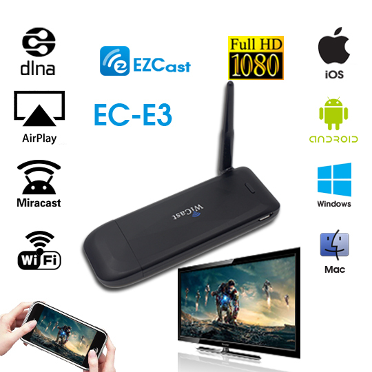 Smart TV Stick WiFi HDMI Dongle WiCast Online and Local Video Audio Photo Games with Phones Tablet on TV by WiFi Miracast DLNA(China (Mainland))
