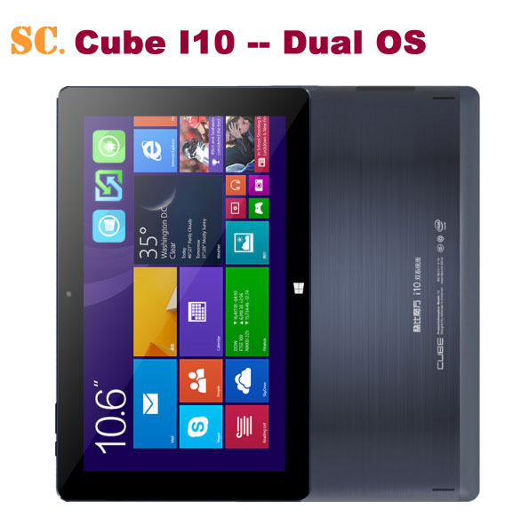 cube i10 dual boot os windows 10 / android 4 4 tablet pc 10 6 inch 32gb 2gb ram hdmi portions Europe