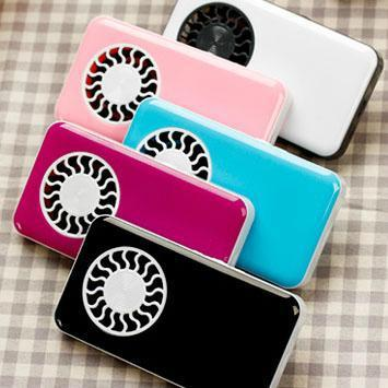 Ultrathin mini fan USB Rechargeable lithium handheld portable portable small fan