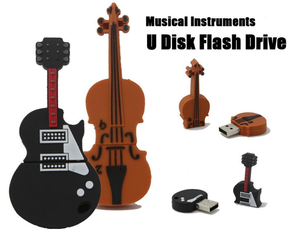 USB Flash Drive Guitar USB Pen Drive Music Instrument Pendrive 32GB 16GB 8GB 4GB Flash Memoria USB Stick Free ship Memory Stick(China (Mainland))