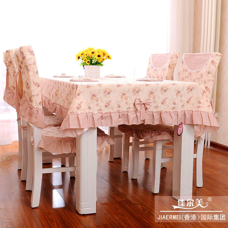 pastoral Korean Family dining table cloth chair sets tablecloth decoration chair cover chair(China (Mainland))