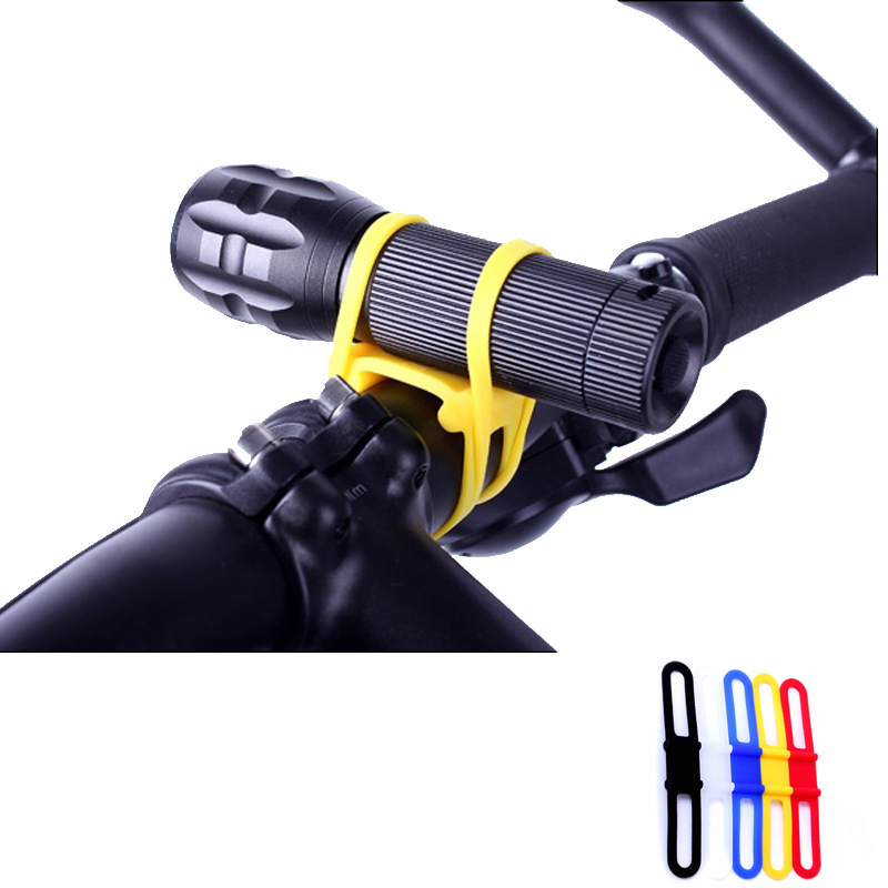 Wholesale 16 pcs Cycling Bike MTB Silicone Elastic Rubber Strap Bandage Mount Holder for Bicycle Light Bicycle Accessories(China (Mainland))