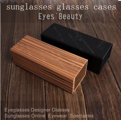 good quality wood sunglasses cases 2014 Folding glasses cases Sagawa Japanese style plain mirror eyeglasses boxes case(China (Mainland))