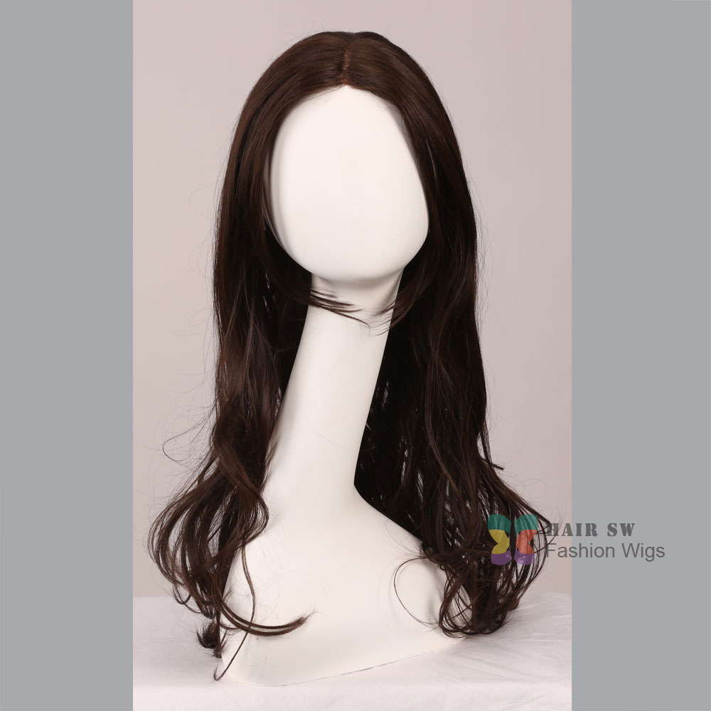 New stylish long Lace Front font b Wig b font wavy healthy women font b hair