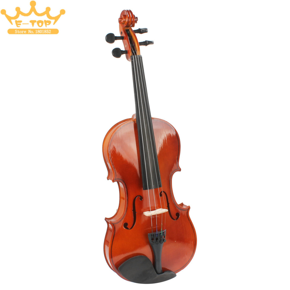 4 / 4 Full Size Natural Acoustic Violin Fiddle with Case & Bow & Rosin for Violin Beginner(China (Mainland))