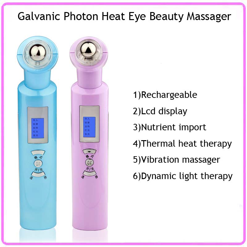 Galvanic Photon Heat Therapy Eye Wrinkle Care Eye Relax  Beauty Massager Pen Free Shipping <br><br>Aliexpress