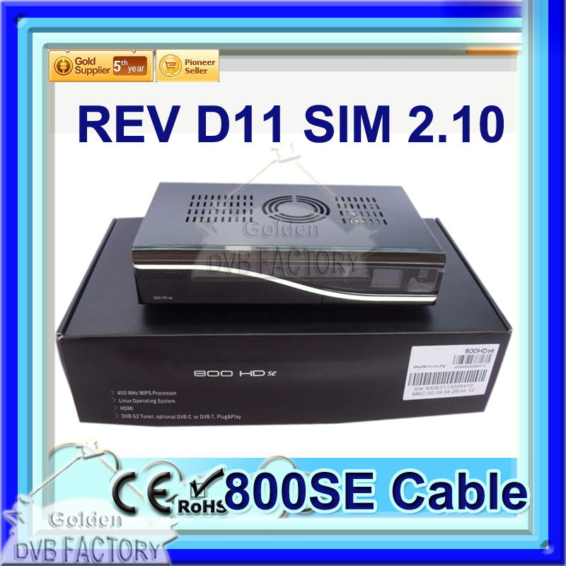 cable TV Receiver Dm800hd se cable 2.10 D11 Linux Operating System Enigma2 DM 800HD SE Cable receiver hd DVB-C Free shipping(China (Mainland))