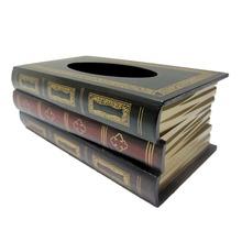 Tissue box wood napkin holder Book shape toilet paper holder Retro Classical Book European Tissue Pumping Carton Napkin Box(China (Mainland))